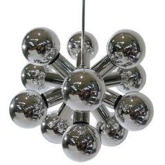 12-Arm Chrome Sputnik Chandelier