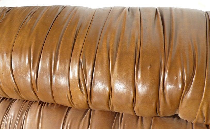 Sleek Italian 70's Settee Imported by Domino Industries 4