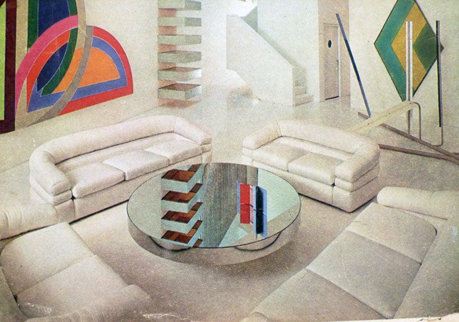 Sleek Italian 70's Settee Imported by Domino Industries 6