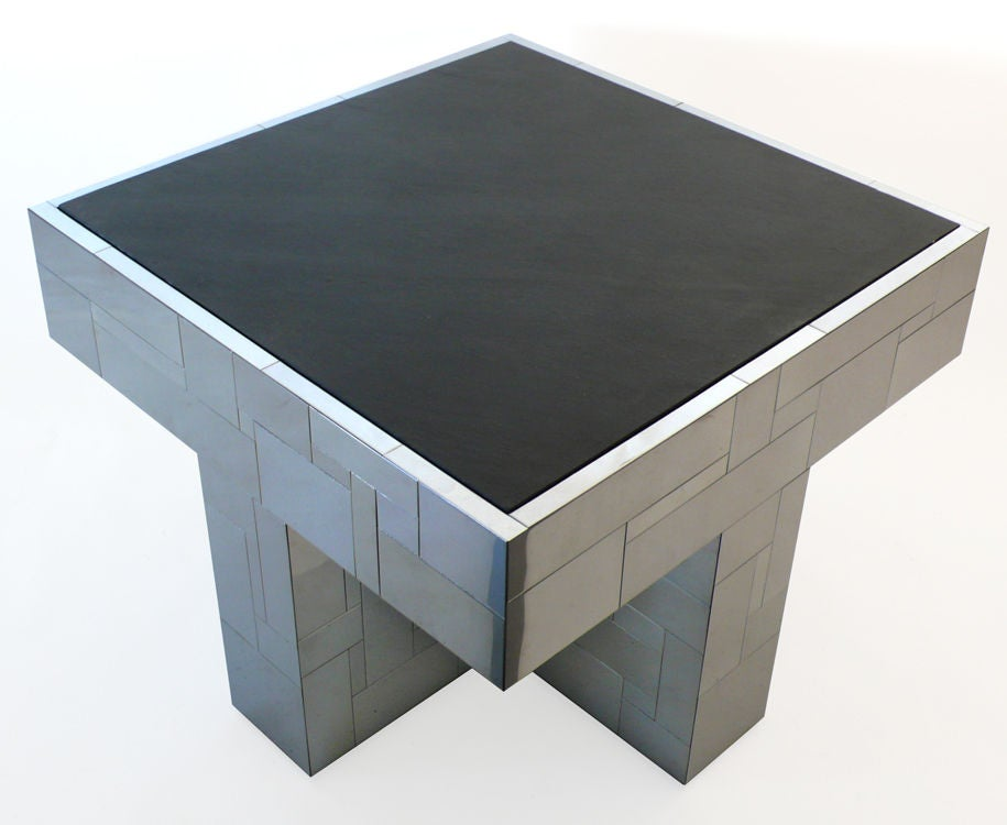 Paul Evans Cityscape Slate Top Coffee Table At 1stdibs