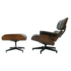 Early Rosewood Down Filled Eames 670 Lounge Chair & 671 Ottoman