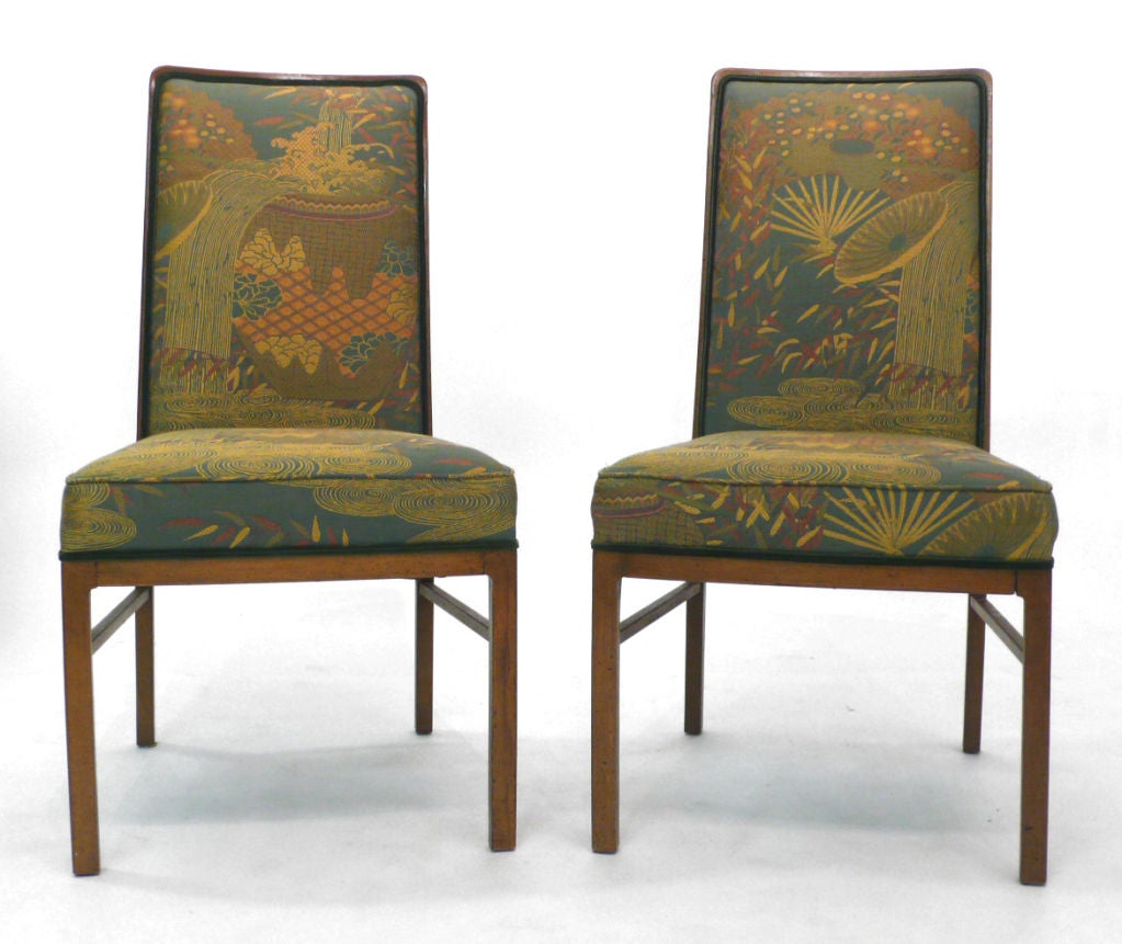set of 8 exquisitely upholstered drexel dining chairs at 1stdibs