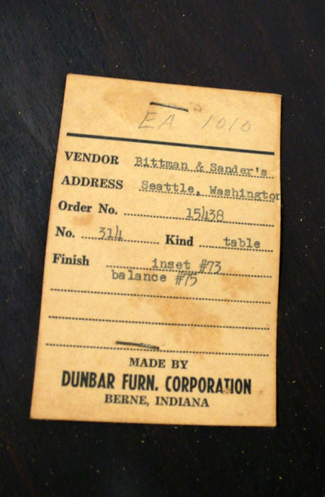 Edward Wormley Cocktail Table, Dunbar 1950s For Sale 1