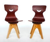 Pair of  Modernist Bentwood Adam Stegner Children's Chairs Pagho thumbnail 2