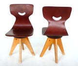Pair of  Modernist Bentwood Adam Stegner Children's Chairs Pagho thumbnail 3