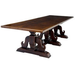 English Oak Refectory Table 10ft  seats up to 12 people