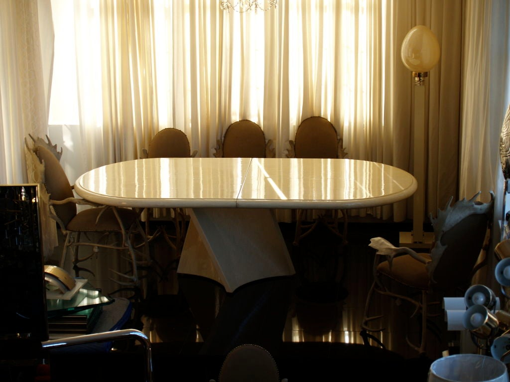 this bone tile dining table is no longer available