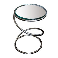 "Pace Collection ""Spring"" Chrome End Table Also Available in a Brass Finish"