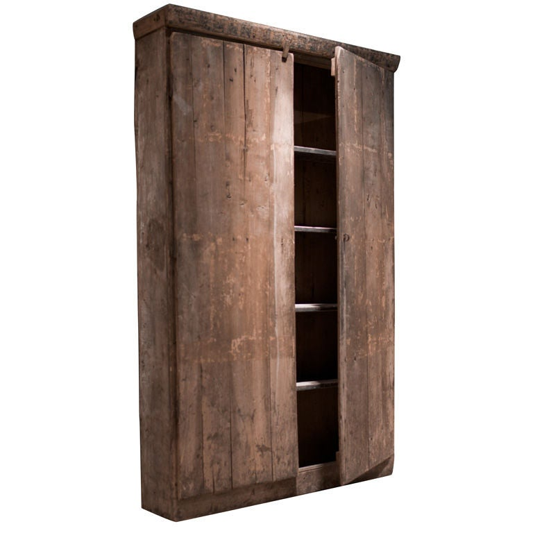 Primitive wood storage cabinet at stdibs