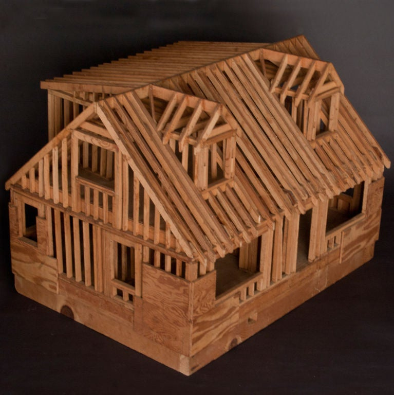 Architectural Model Of Classic American House At 1stdibs