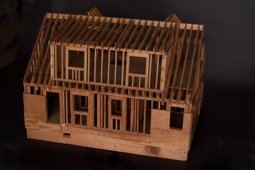 Architectural model of classic american house at 1stdibs for Classic american house