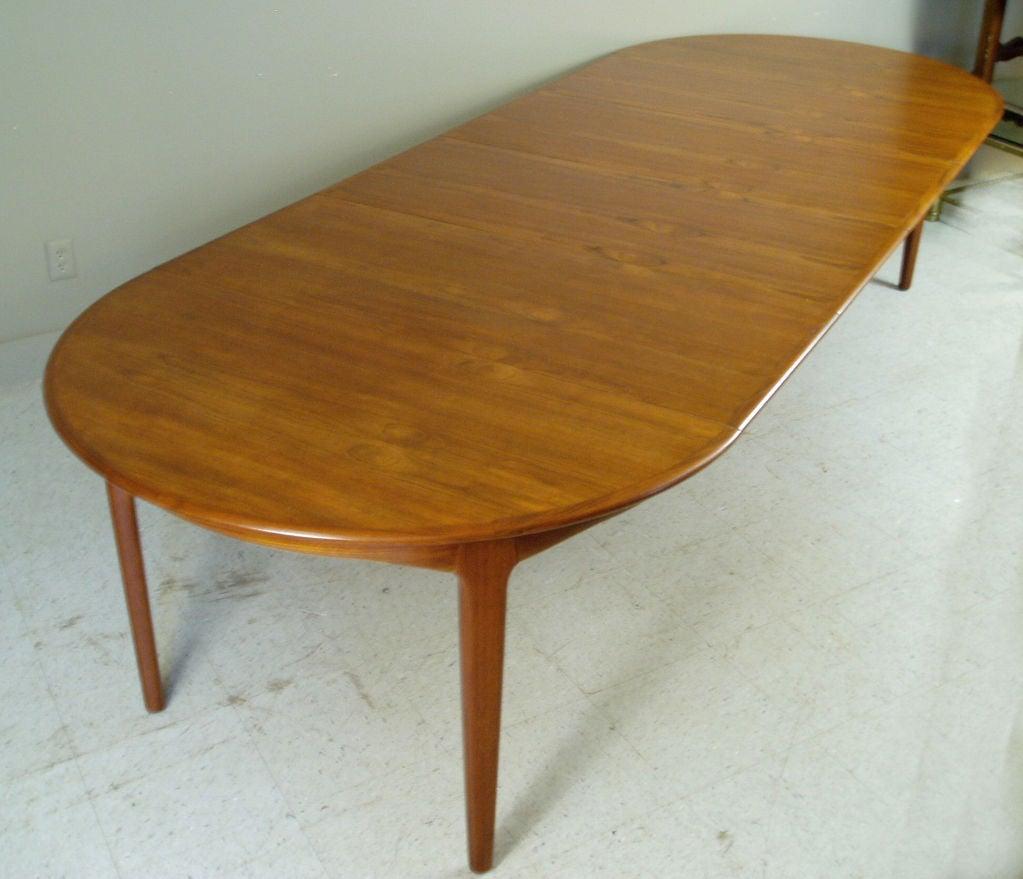 Vintage Danish Teak Extension Dining Table At 1stdibs