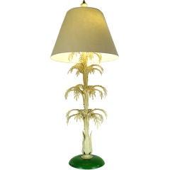 Mid Century Palm Leaf Lamp