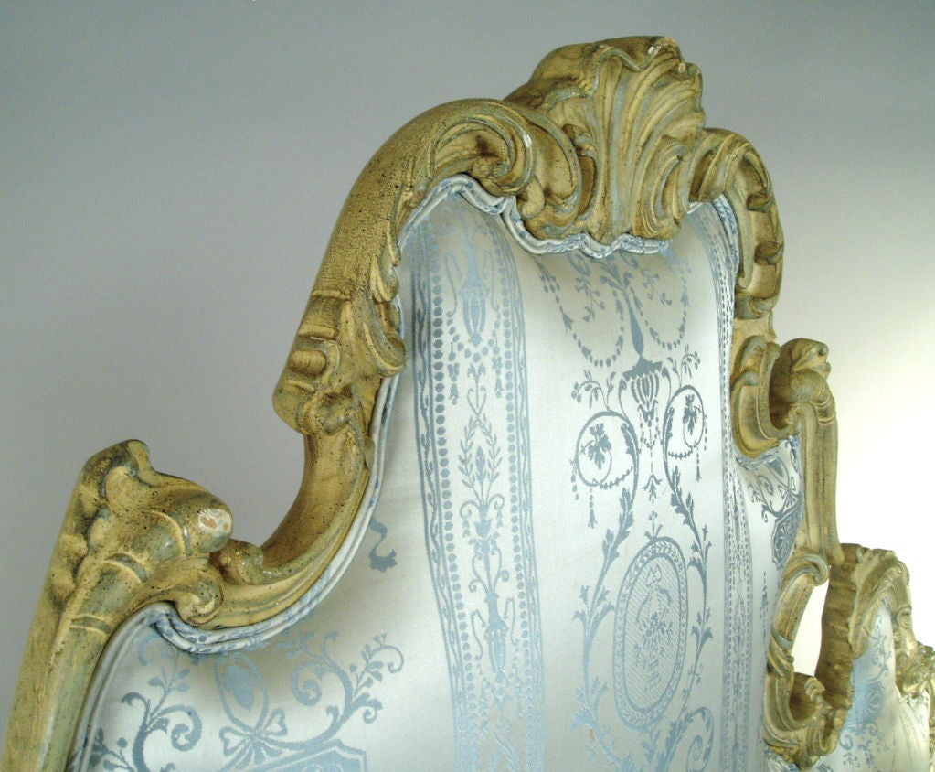 Vintage Hollywood Regency Carved Scroll Headboard image 3