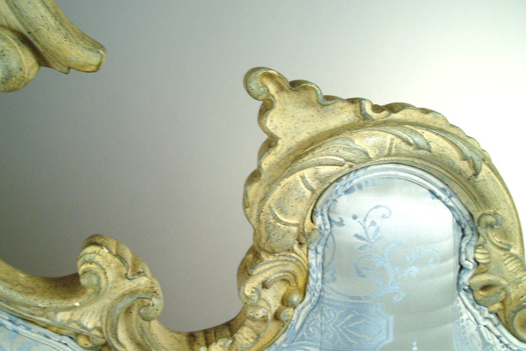 Vintage Hollywood Regency Carved Scroll Headboard image 4