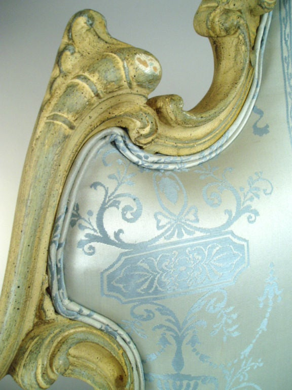 Vintage Hollywood Regency Carved Scroll Headboard image 5