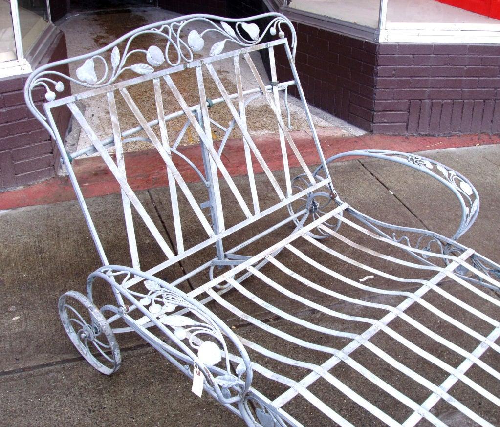 Vintage Salterini double Chaise Lounge 3