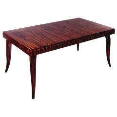 Elegant Art Deco Macassar Ebony Extension Dining Table
