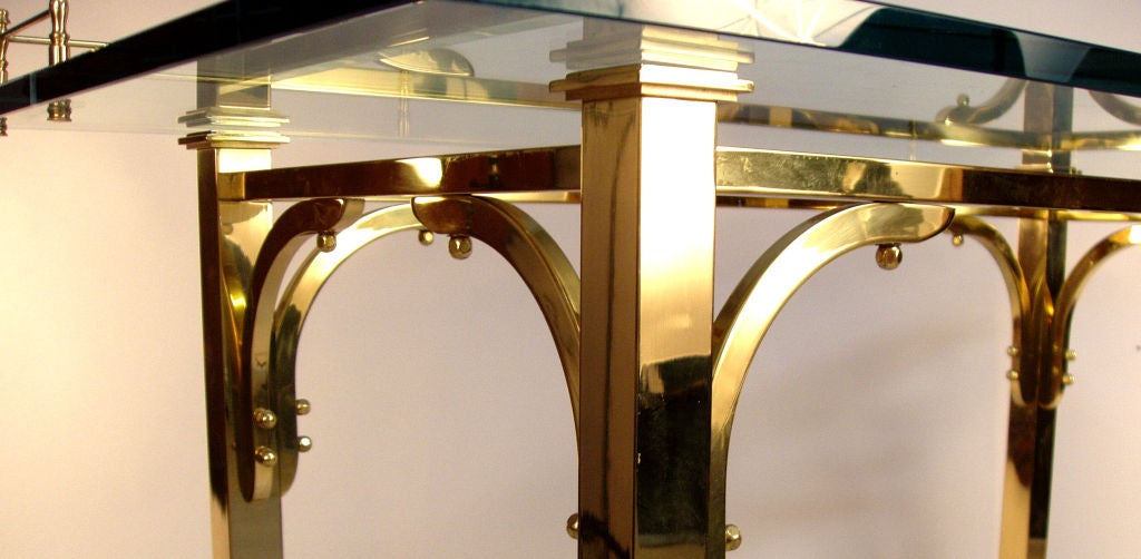 Brass & Glass Writing Desk / Vanity Table 5
