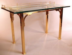Brass & Glass Writing Desk / Vanity Table image 6