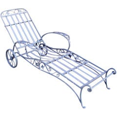 Vintage Iron Chaise Lounge by Salterini