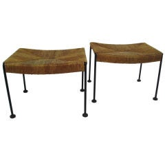 A Pair of 1950's Iron Benches by Umanoff