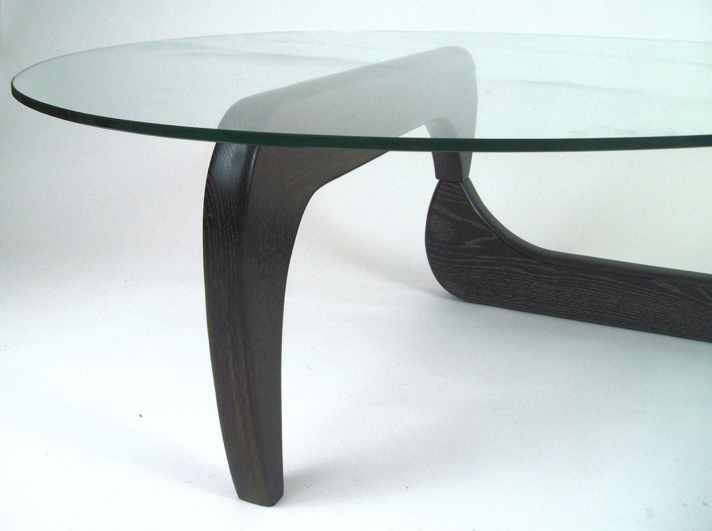 Vintage Noguchi Style Glass Top Cocktail Table At 1stdibs