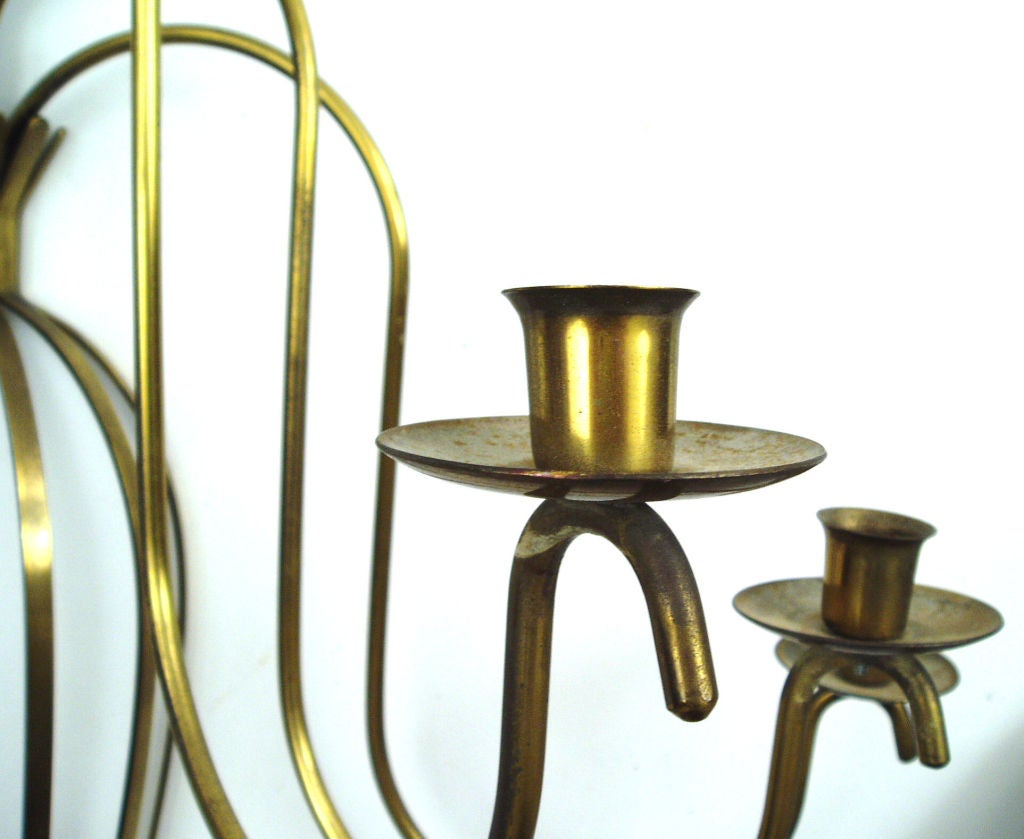Large Elegant Wall Sconces : Classic and Elegant Brass Wall Sconce For Sale at 1stdibs