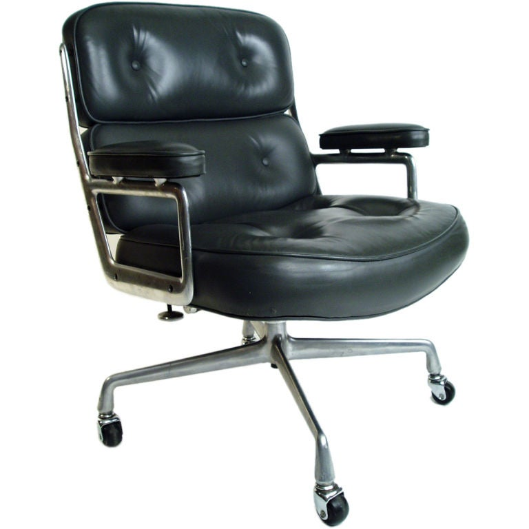 eames for herman miller time life chair in grey leather at