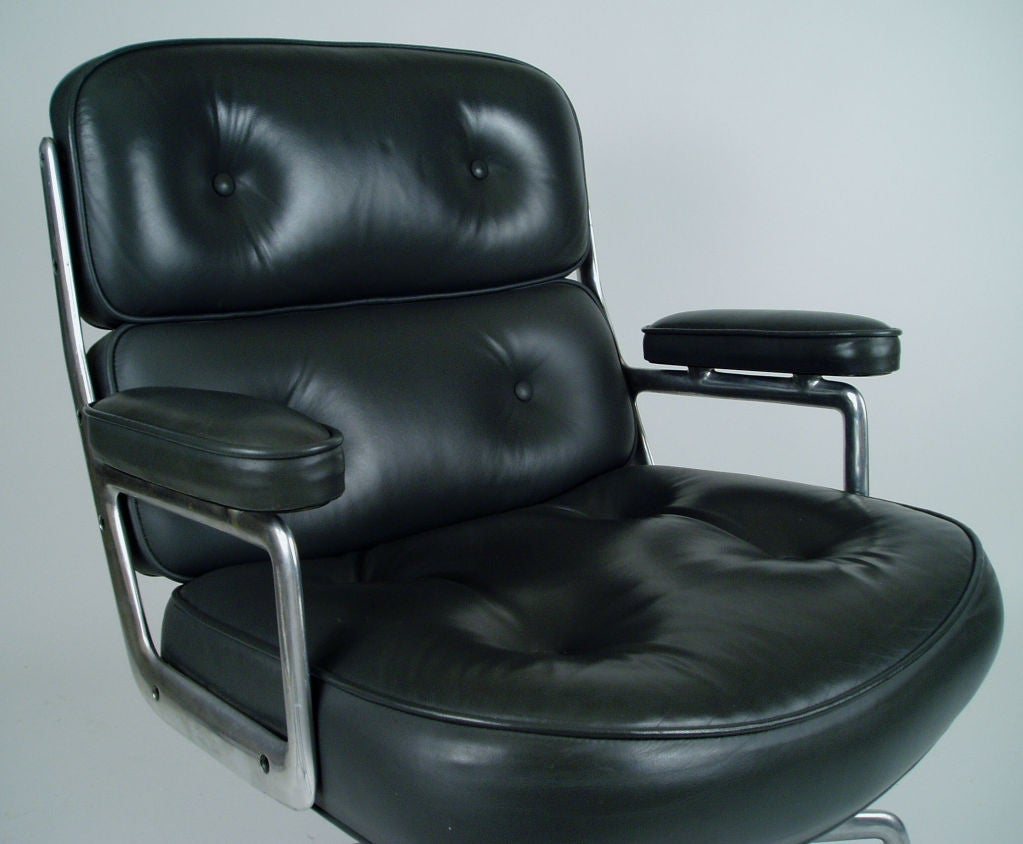 eames for herman miller time life chair in grey leather at 1stdibs