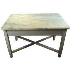 Belgian Marble Baker's Table