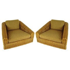 Monumental Lounge Chairs in the style of Michael Taylor