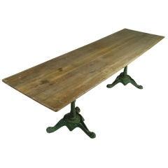 Vintage French Iron Base Bistro Table
