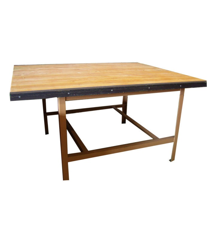 Large Maple Butcher Block Work Table At 1stdibs