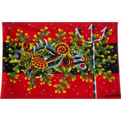Rare Jean Picart Le Doux Woven Tapestry