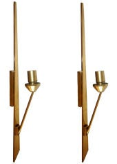 Huge Maison JANSEN Pair of  Wall Sconces
