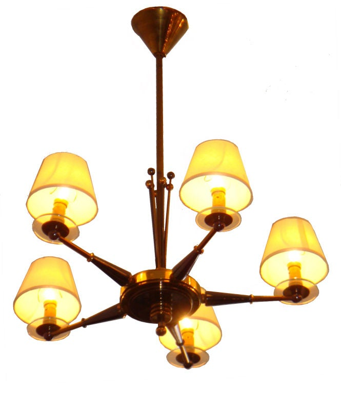 Pair of Maison Jansen chandeliers.