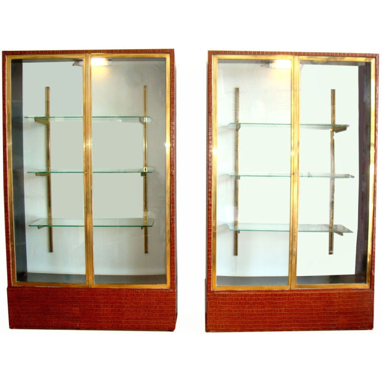 Saturday Sale Jansen Pair Of Vitrines For Sale At 1stdibs