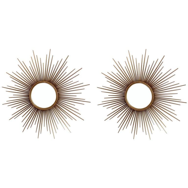 Pair of Sunburst Mirrors Chaty Vallauris