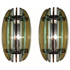 Pair of Wall Sconces by Veca , 6 Pair Available
