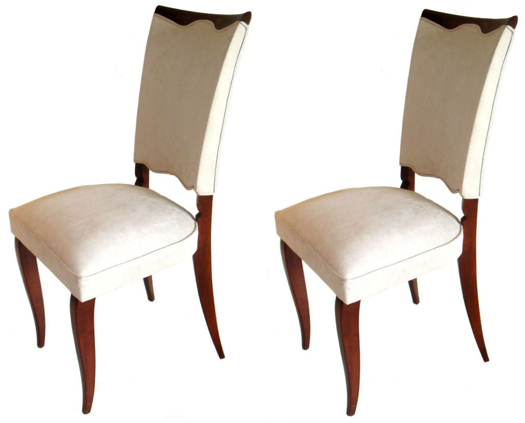 Set Of6 Art Deco Dining Chairs At 1stdibs