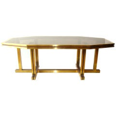 Huge Octagonal Dining Table or Desk by Maison Jansen