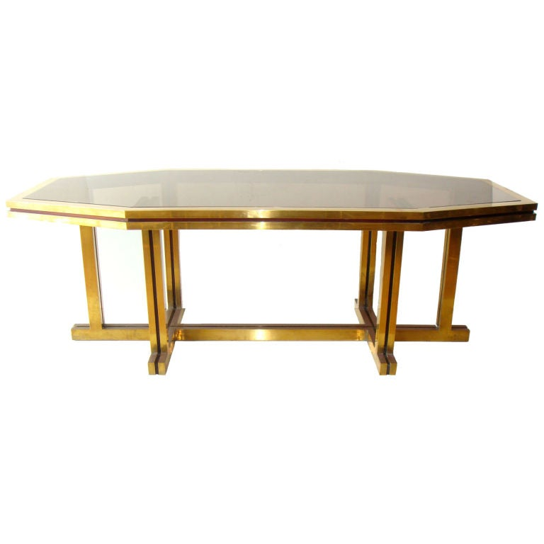 Huge Octagonal Dining Table Or Desk By Maison Jansen For
