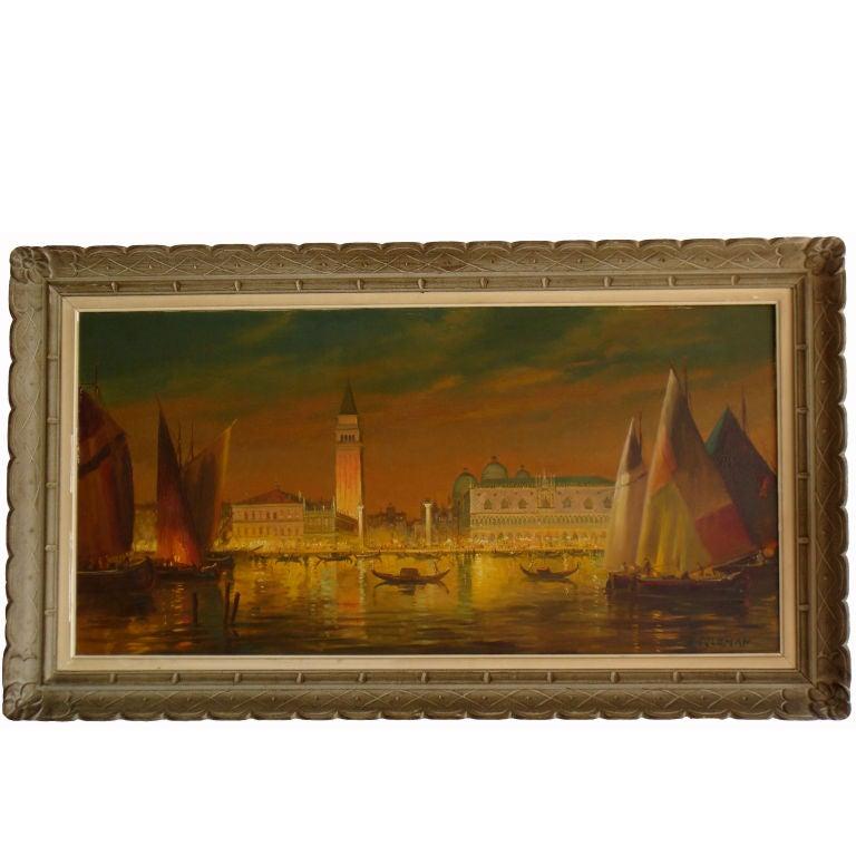 Venice Painting Signed M. Coloman