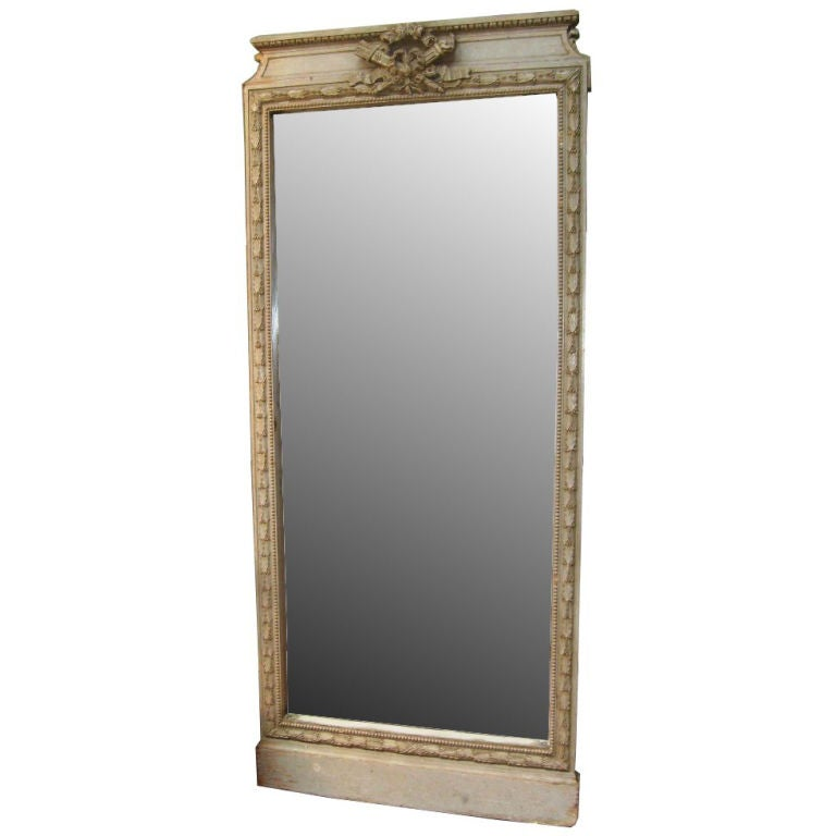 French handcarved 1870s floor mirror at 1stdibs for Full length glass mirror