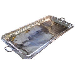 Large Rectangular Silver Tray