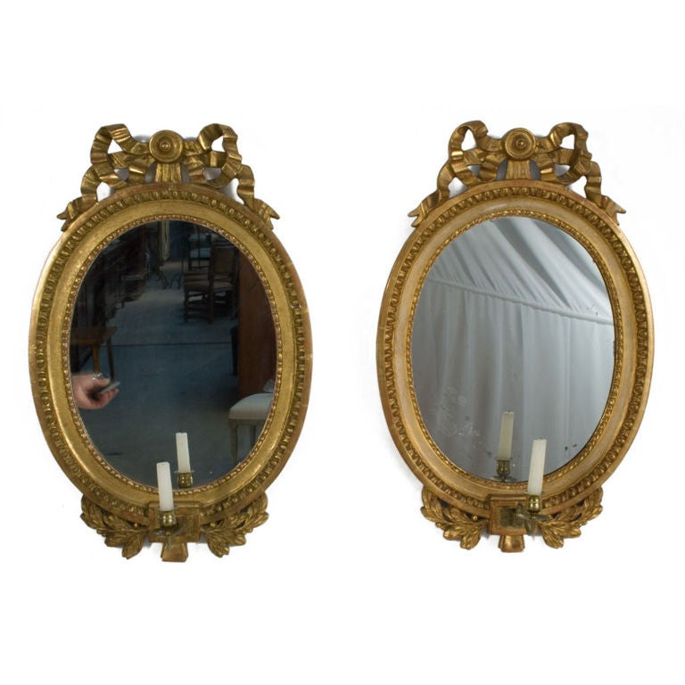 Pair of Gustavian Girandoles 1