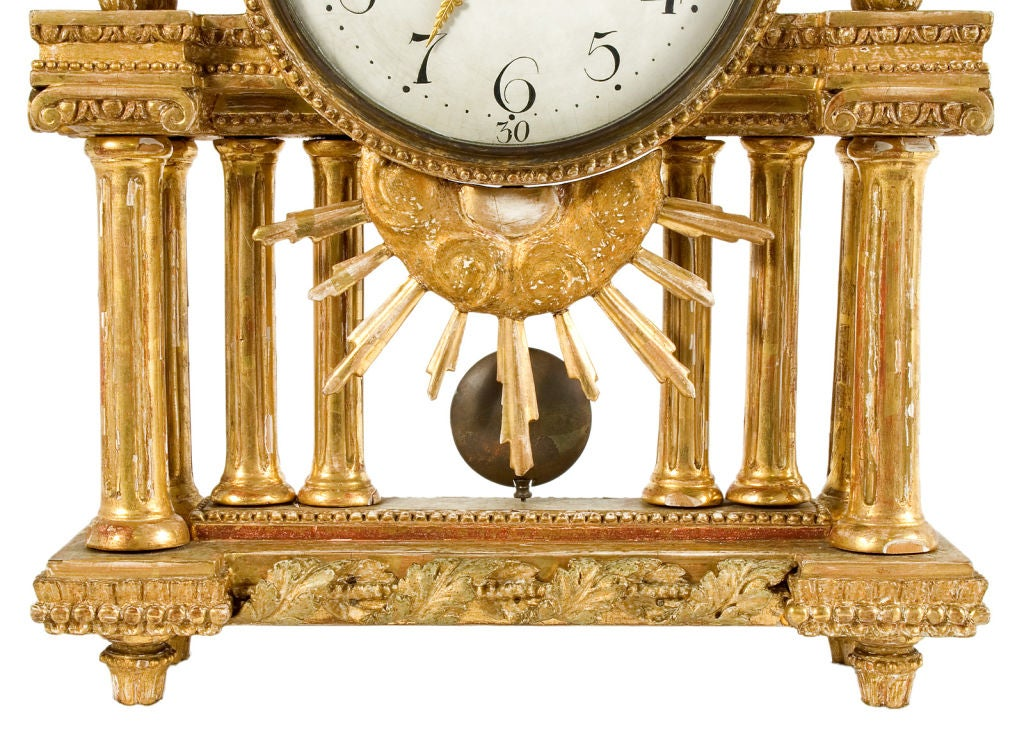 Gustavian Table Clock 6