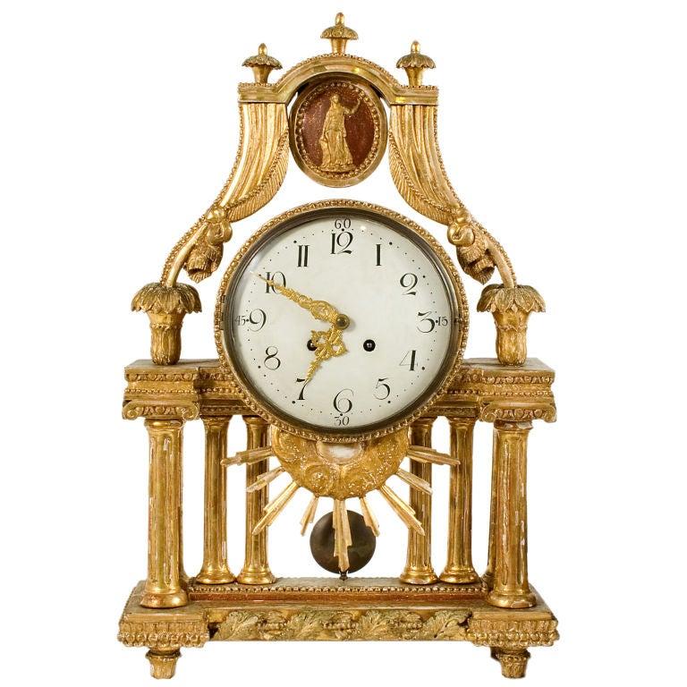 Gustavian Table Clock 1