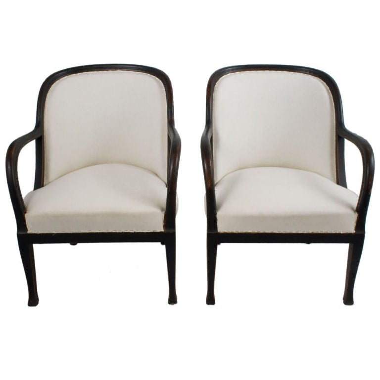 Pair Of Art Deco Lounge Chairs At 1stdibs